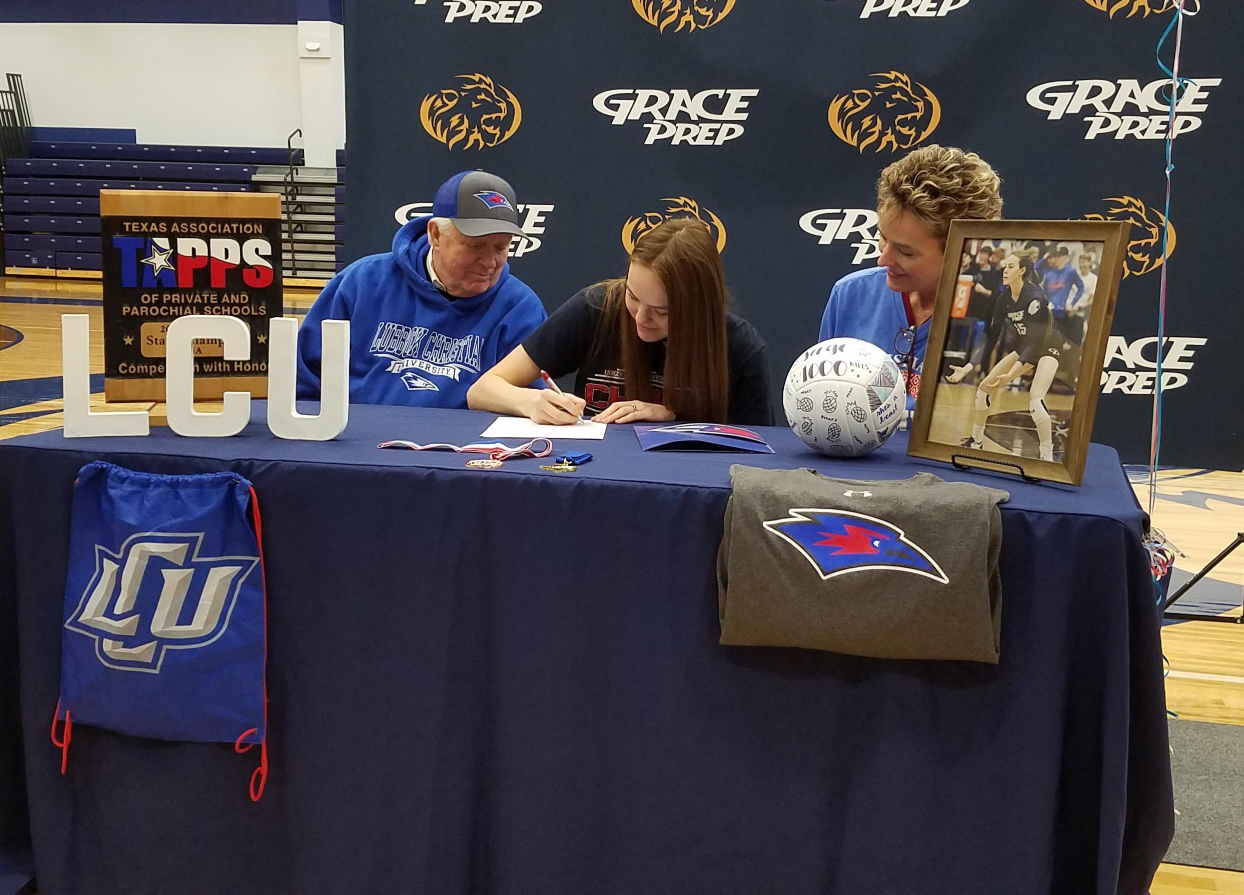 Post Signs with Lubbock Christian University